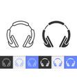 dj headphone simple black line icon vector image