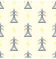 electric pole seamless pattern vector image vector image