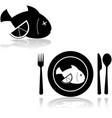 fish with lemon vector image