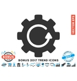 Gear Rotation Flat Icon With 2017 Bonus Trend vector image vector image