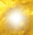 Gold lights abstract banner halftone circle vector image vector image