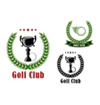 Golf club heraldic emblems and icons vector image vector image