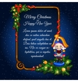Greeting card with retro soldier and sample text vector image vector image