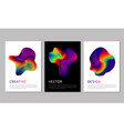 hologram abstract spot posters set with bright vector image