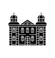 hotel black icon concept hotel sig vector image vector image