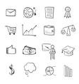 Isolated line web icons set vector image