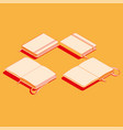 isometric flat of copybook vector image