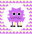 Little Cute Violet Monster vector image vector image