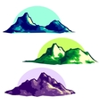 Low polygonal mountains vector image vector image