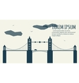 Minimalistic Cityscape Banner vector image vector image