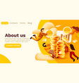 modern banner template with tiny people and vector image