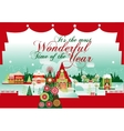 most wonderful time christmas card vector image vector image