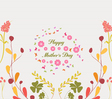 mothers day greeting card florals vector image vector image
