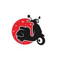 motorbike scooter transportation logo vector image vector image