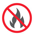 no fire glyph icon prohibition and forbidden vector image vector image