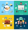 Partnership planning business and conference vector image