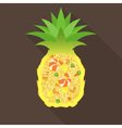 Pineapple fried rice vector image vector image