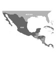 political map of central america and mexico in vector image