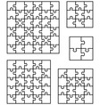 puzzles separate pieces vector image vector image