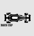 race car simple icon bloack and withe vector image