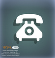 retro telephone handset icon symbol on the vector image vector image