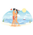 romantic summer vacation concept for web vector image