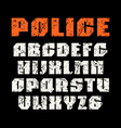 sanserif font in military style vector image vector image