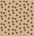 scattered polka dots beige coffee color seamless vector image vector image