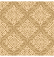 seamless baroque damask luxury pink background vector image vector image