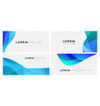 set colorful gradient curve on white vector image