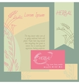 Set of design elements Business cards flyers check vector image