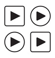Set of play button icons vector image vector image