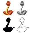 set snake character vector image vector image