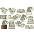 set ten dollars banknotes vector image