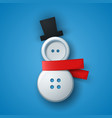 sewing button - snowman vector image vector image