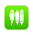 stationery icon green vector image vector image