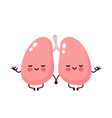 strong cute healthy happy lungs vector image vector image