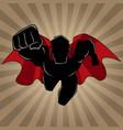superhero coming ray light silhouette vector image vector image