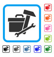 toolbox framed icon vector image vector image