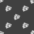 Us dollar icon sign Seamless pattern on a gray vector image vector image