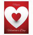 valentines greeting card design vector image vector image