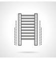 Wall bars gym flat line icon vector image