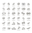 web icons collection - nuts beans and seed vector image vector image