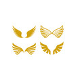 wings icon design set bundle template isolated vector image vector image