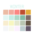 Winter Color Tone without Code vector image vector image