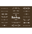 Collection of dividers vector image