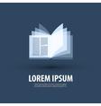 Book Logo icon symbol template emblem vector image