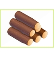 firewood isometric flat 3d vector image