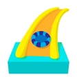 Aquapark slide cartoon icon vector image