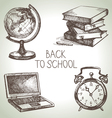 Back to school hand drawn school object set vector image vector image